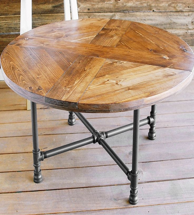 Wonderful Well Known Clock Coffee Tables Round Shaped Throughout Best 10 Coffee Table Base Ideas On Pinterest Industrial Side (Image 50 of 50)