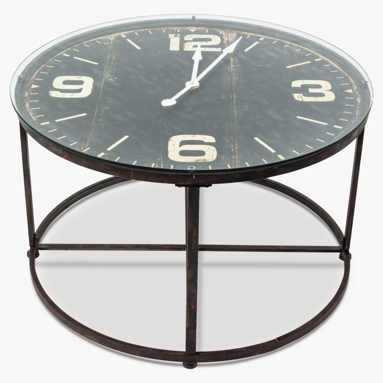 Wonderful Well Known Coffee Tables With Clock Top Intended For Table Clock Coffee Table Home Interior Design (Image 40 of 40)