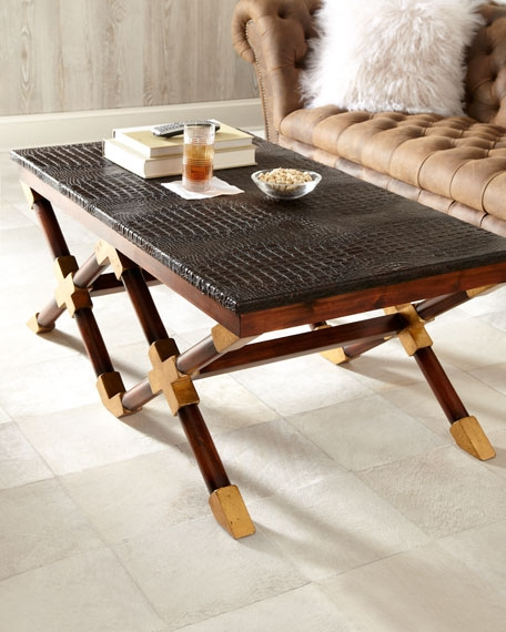Wonderful Well Known Colonial Coffee Tables Pertaining To John Richard Collection Campaign Coffee Table (Image 49 of 50)
