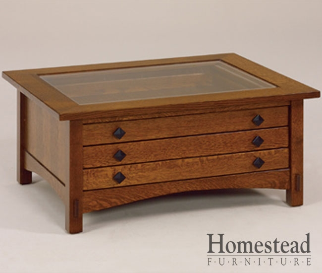 Featured Image of Glass Top Display Coffee Tables With Drawers