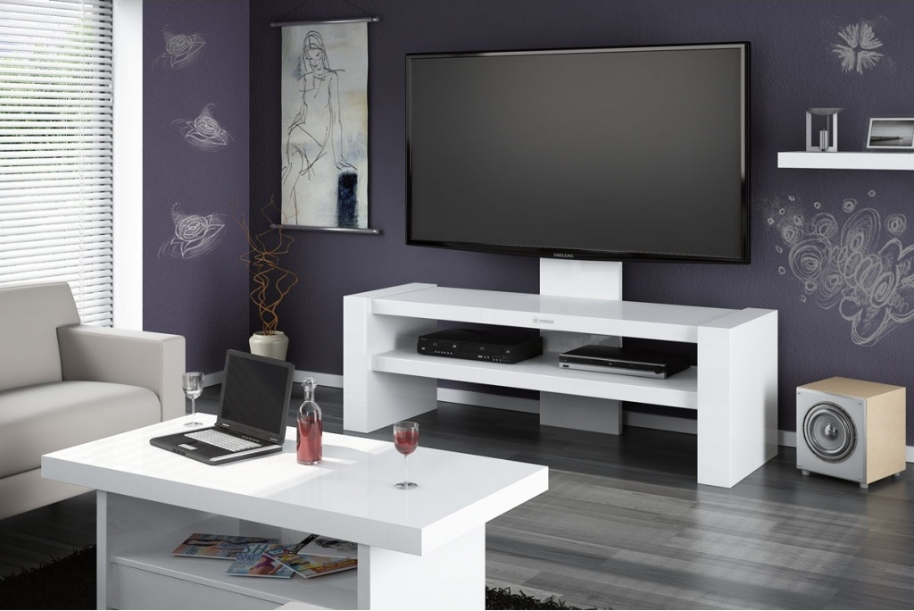 Wonderful Well Known Glossy White TV Stands In Tv Stands Inspiring Modern White Gloss Tv Stand Glamorous White (Image 50 of 50)
