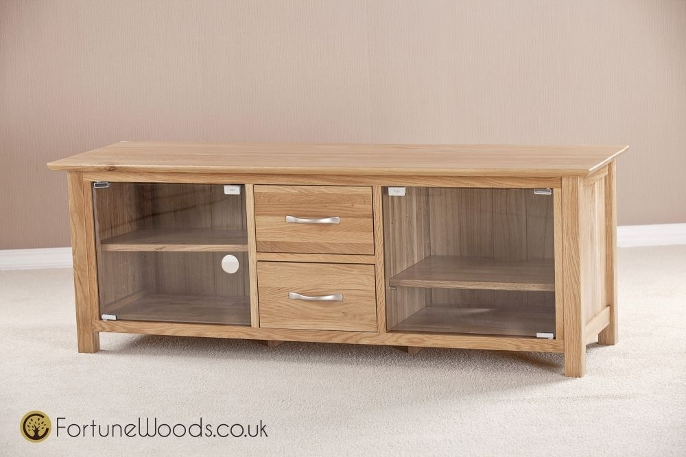 Wonderful Well Known Large Oak TV Cabinets For Buy Milano Oak Tv Unit Large With Glass Door Online Cfs Uk (Image 49 of 50)