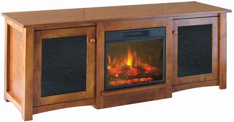 Wonderful Wellknown Light Brown TV Stands Throughout Flint Electric Fireplace Tv Stand From Dutchcrafters Amish Furniture (Image 49 of 50)