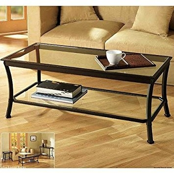 Wonderful Well Known Low Rectangular Coffee Tables Intended For Amazon Rectangular Coffee Table With Metal Frames In Dark (View 2 of 50)