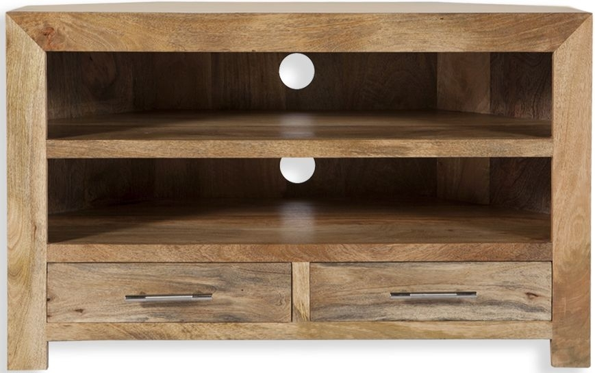 Wonderful Wellknown Mango Wood TV Stands In Corner Tv Cabinet Tall Corner Tv Stand Designs And Images (Image 50 of 50)