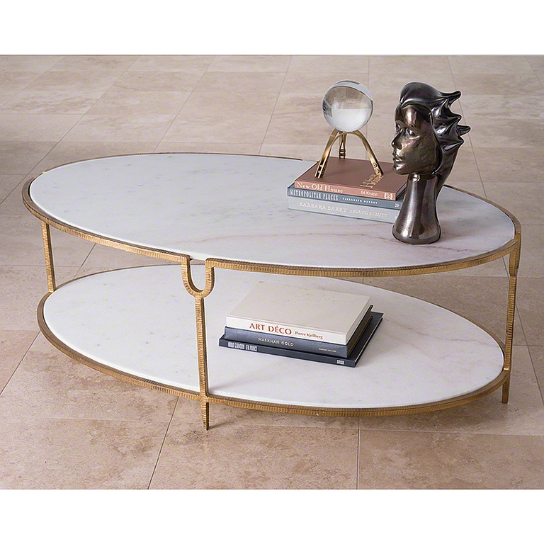 Wonderful Well Known Marble And Metal Coffee Tables Pertaining To Gold Iron And Marble Coffee Table The Designer Insider (Image 38 of 40)