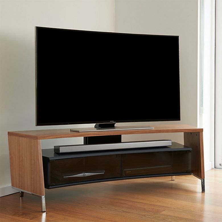Wonderful Well Known Off Wall TV Stands Intended For Buy Off The Wall Crv1500wal Curved Tv Stand In Walnut For Tvs Up (Image 49 of 50)