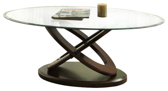 Wonderful Well Known Oval Glass Coffee Tables Pertaining To Oval Metal Glass Coffee Tables (Image 50 of 50)