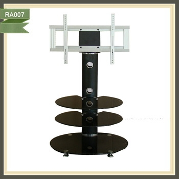 Wonderful Well Known Oval Glass TV Stands Inside Free Standing Lcd Oval Glass Tv Stand Wholesale Buy Oval Glass (View 50 of 50)