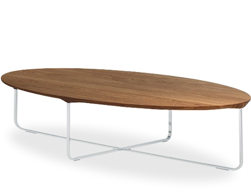 Wonderful Wellknown Oval Walnut Coffee Tables For Flint 140 Oval Coffee Table Hivemodern (Image 50 of 50)