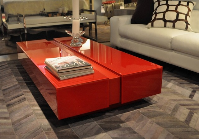 Wonderful Well Known Red Coffee Table With Red And Black Gl Coffee Tables (Image 49 of 50)