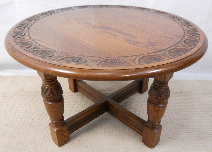 Wonderful Wellknown Round Oak Coffee Tables With Regard To Impressive On Round Oak Coffee Table With Great Round Oak Coffee (View 10 of 40)