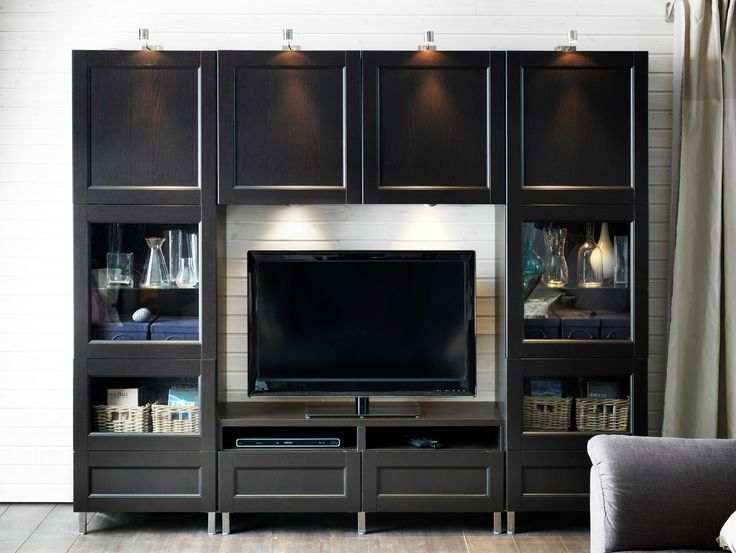 Wonderful Well Known Small Black TV Cabinets Inside Best 25 Black Tv Unit Ideas On Pinterest Ikea Tv Table (Image 47 of 50)