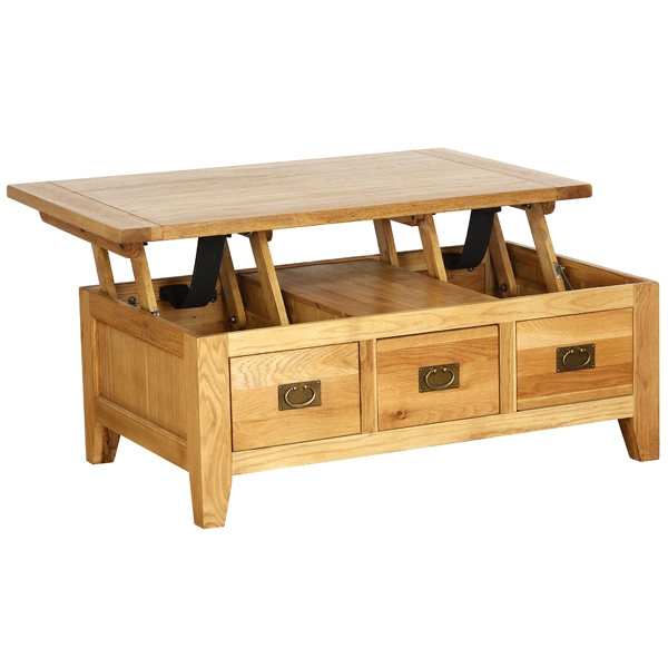 Wonderful Wellknown Small Coffee Tables With Drawer Inside Oak Coffee Table With Drawers (Image 50 of 50)