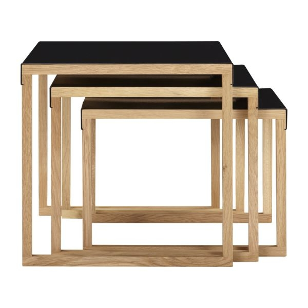 Wonderful Well Known Stackable Coffee Tables For Kilo Accent Tables Black Wood Metal Habitat (View 10 of 50)