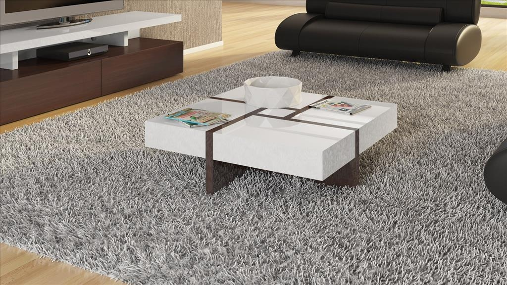 Wonderful Wellknown White Square Coffee Table Throughout Coffee Tables Designs Popular White Square Coffee Table Design (Image 50 of 50)