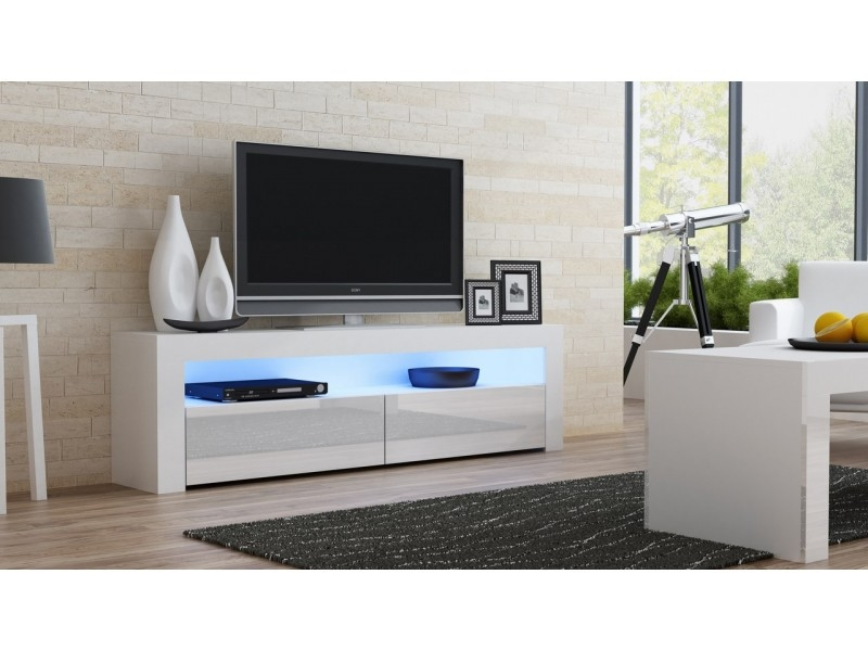 Wonderful Wellknown White TV Stands For White Gloss Tv Stand Milano 157 Concept Muebles (View 21 of 50)