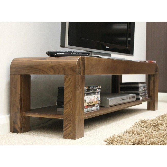 Wonderful Well Known Widescreen TV Stands With Regard To Shiro Walnut Low Tv Stand Best Price Guarantee (Image 50 of 50)