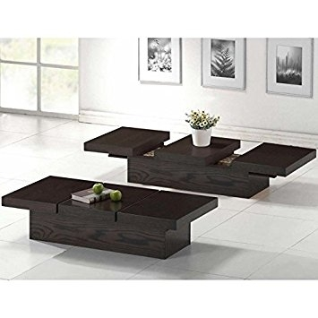 Wonderful Well Known Wood Modern Coffee Tables In Amazon Baxton Studio Cambridge Brown Wood Modern Coffee Table (Image 48 of 50)
