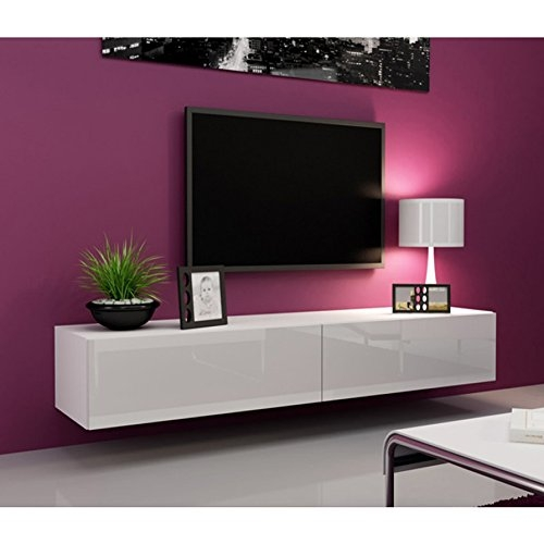 Charmant Wonderful Wellliked Acrylic TV Stands Intended For Amazon Seattle White Tv  Stand High Gloss White Tv