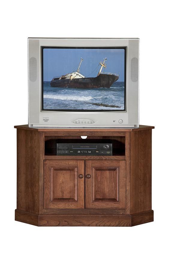 Wonderful Wellliked Compact Corner TV Stands Regarding Amish Shaker Compact Corner Tv Stand (Image 50 of 50)