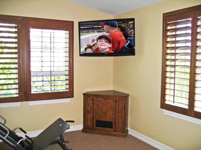 Wonderful Wellliked Corner TV Stands With Bracket Within Corner Tv Cabinet C 130 Corner Tv Stand To Rest Below Wall (Image 50 of 50)