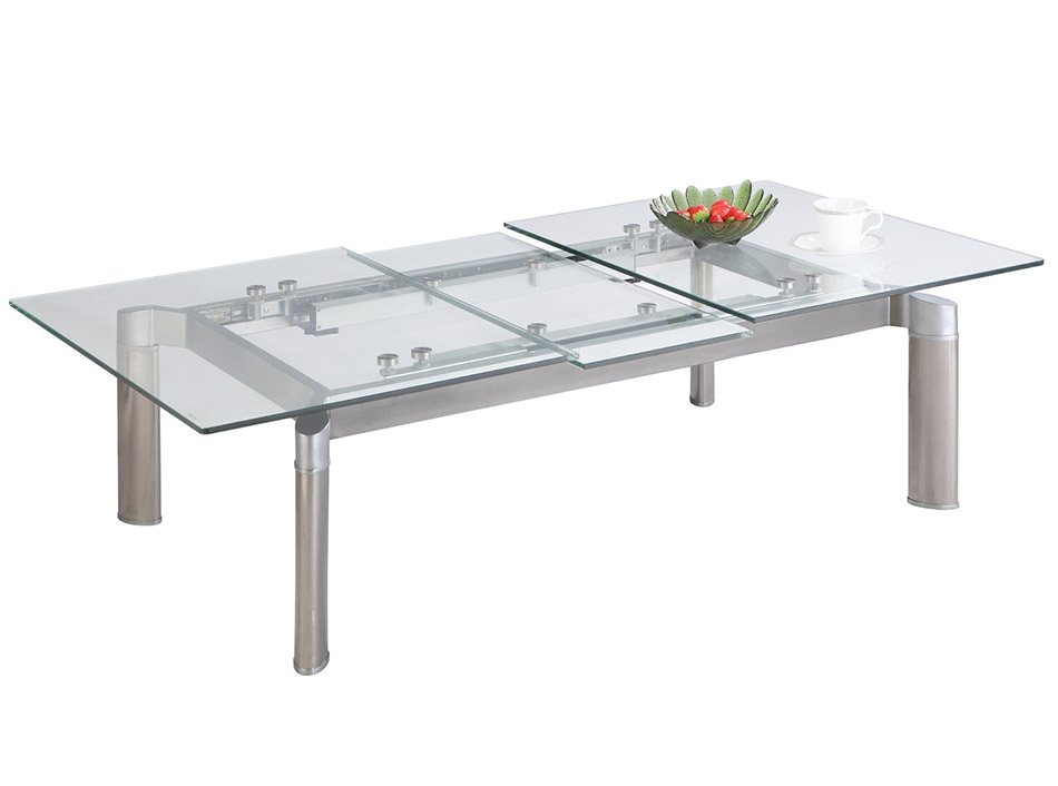 Wonderful Wellliked Extendable Coffee Tables Intended For Tara Extendable Glass Coffee Table (View 16 of 40)