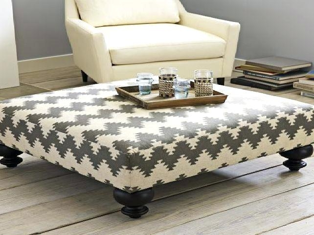 Wonderful Wellliked Fabric Coffee Tables For Ottomans As Coffee Tables Dealhackrco (View 37 of 50)