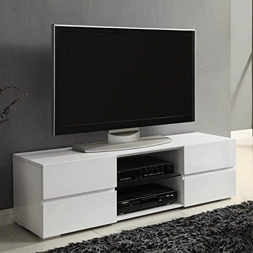 Wonderful Wellliked Modern White TV Stands Pertaining To Modern Tv Stand Media Entertainment Center Console Cabinet Drawers (Image 50 of 50)
