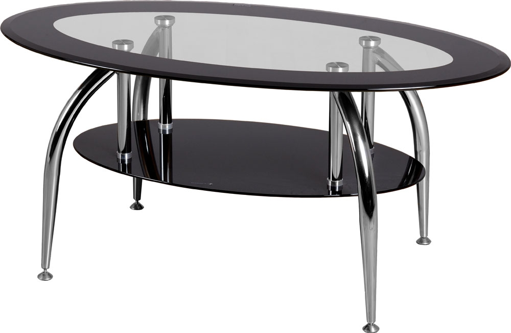 Wonderful Wellliked Oval Black Glass Coffee Tables In Caravelle Dining Table (Image 49 of 50)