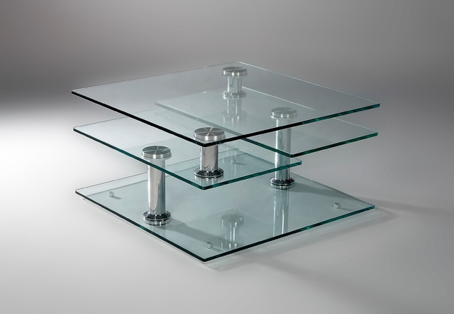 Wonderful Wellliked Revolving Glass Coffee Tables Intended For Tempered Glass 4 Tier Swivel Coffee Table (Image 40 of 40)
