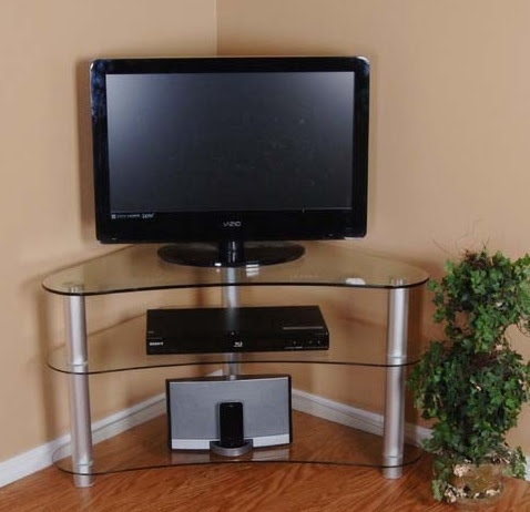 Wonderful Wellliked Small Corner TV Stands Regarding Corner Tv Stands The Perfect Solution For Small Or Cluttered Room (View 43 of 50)