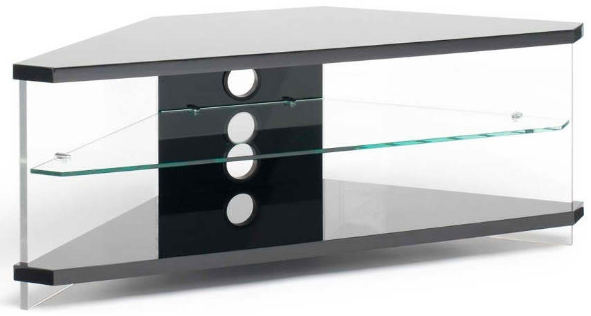 Wonderful Wellliked Techlink Bench Corner TV Stands Inside Techlink Gloss Black Air Ai110bc Acrylic And Glass Corner Tv Stand (Image 50 of 50)