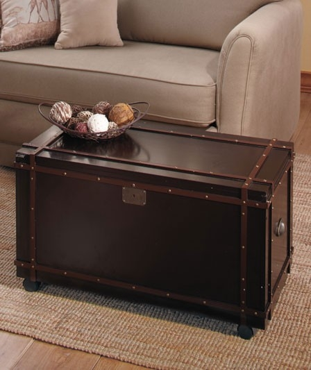 Wonderful Wellliked Trunk Chest Coffee Tables Intended For Steamer Trunk Coffee Table (View 4 of 50)