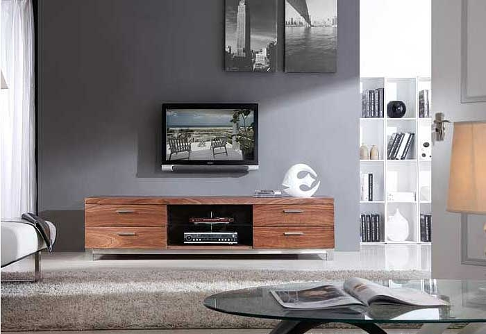 Wonderful Wellliked Walnut TV Stands Pertaining To Modern Walnut Tv Stand Bm3 Tv Stands (View 48 of 50)
