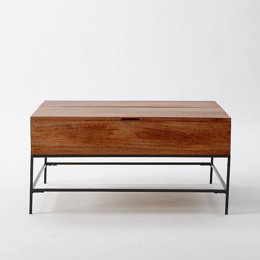 Wonderful Wellliked Wooden Storage Coffee Tables With Regard To Industrial Storage Coffee Table West Elm (View 12 of 50)