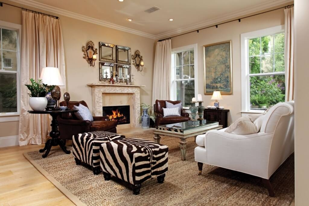 Wonderful Widely Used Animal Print Ottoman Coffee Tables In Furniture Zebra Print Round Coffee Table And Round Zebra Ottoman (Image 50 of 50)
