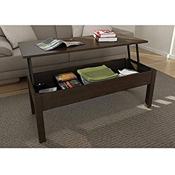 Wonderful Widely Used Coffee Tables With Lift Top Storage Within Amazon Mainstays Lift Top Coffee Table Color Espresso (View 28 of 50)