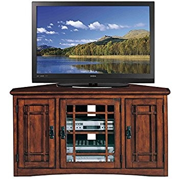 Wonderful Widely Used Corner Oak TV Stands Throughout Amazon Leick Riley Holliday Mission Corner Tv Stand With (Image 50 of 50)