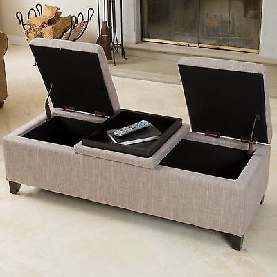 Wonderful Widely Used Footstool Coffee Tables Pertaining To Storage Ottoman Bench Fabric Modern Coffee Table Foot Stool Rest (Image 40 of 40)