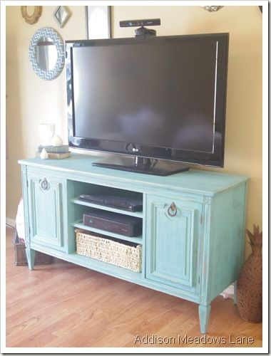 Wonderful Widely Used Green TV Stands Regarding Best 25 Painted Tv Stands Ideas On Pinterest Tv Stand Furniture (Image 50 of 50)