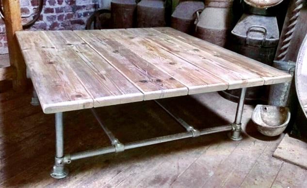 Wonderful Widely Used Low Industrial Coffee Tables  Intended For Agreeable Large Low Coffee Table On Diy Home Interior Ideas With (Image 40 of 40)
