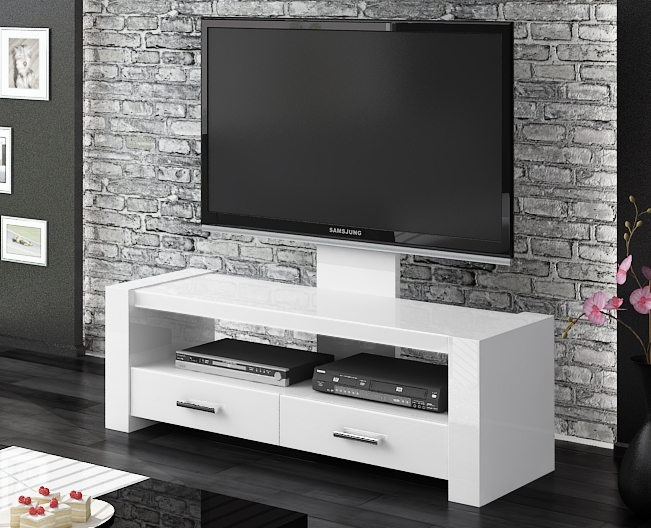 Wonderful Widely Used Modern White Gloss TV Stands With Regard To Monaco White Gloss Tv Stands Modern Tv Stands (Image 50 of 50)