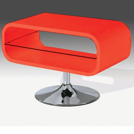 Wonderful Widely Used Red Gloss TV Stands Pertaining To Radius Lcd Tv Stand In Red Gloss With Clear Glass (View 13 of 50)