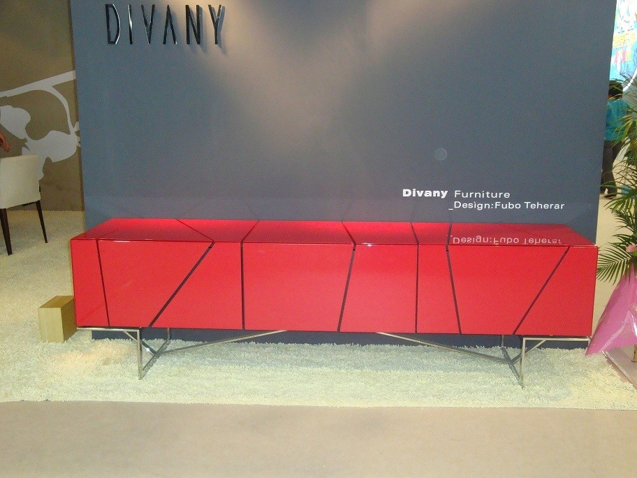 Wonderful Widely Used Red Modern TV Stands Pertaining To Rostock Modern Red Tv Stand (Image 49 of 50)