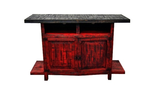 Wonderful Widely Used Rustic Red TV Stands With Scraped Red Finish 2 Door Tv Stand Real Wood Flat Screen Console (Image 50 of 50)