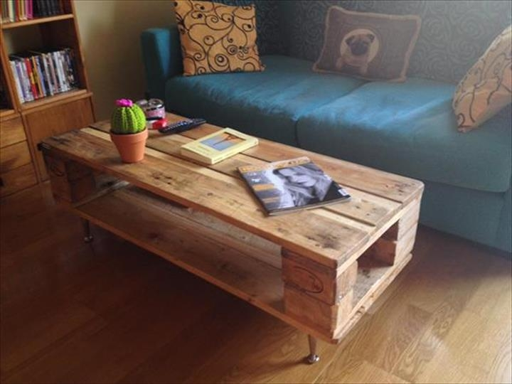 Wonderful Widely Used Short Legs Coffee Tables Inside 20 Diy Pallet Coffee Table Ideas (Image 50 of 50)
