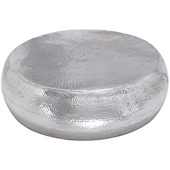 Wonderful Widely Used Silver Drum Coffee Tables With Regard To Hammered Coffee Table (Image 50 of 50)