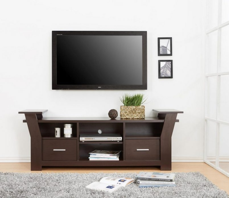 Wonderful Widely Used Small Black TV Cabinets Pertaining To Furniture Wall Unit Designs Wood Tv Consoles For Flat Screens (Image 49 of 50)