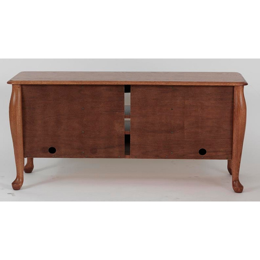 Wonderful Widely Used Solid Oak TV Stands Intended For Solid Oak Queen Anne Tv Stand Wcabinet 58 The Oak Furniture Shop (View 41 of 50)